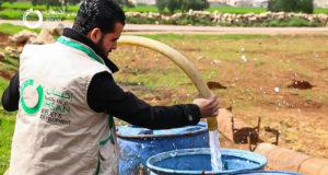 الصورة لواحد من مشاريع دعم المياه -إنترنت