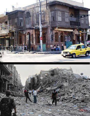 صورة لملتقى جحا بعد التفجير المصدر ملتقى دور الثقافي