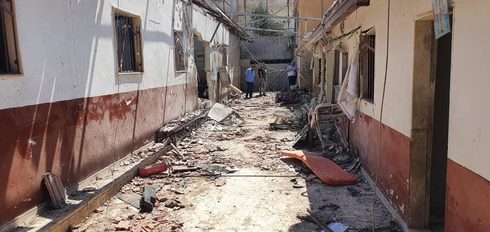 صور متداولة لآثار القصف على مشفى الشفاء في عفرين