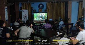 النادي السينمائي في عفرين خلال عرض أحد الأفلام